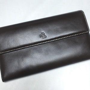 Lauren Ralph Lauren women's brown leather wallet